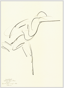 "Drawing by Stanley Roseman of Kader Belarbi, 1993, Paris Opéra Ballet, ""Giselle,"" 1993, pencil on paper, Collection Bibliothèque Nationale de France, Paris. © Stanley Roseman"
