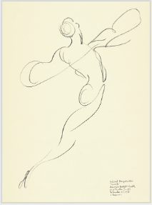 Drawing by Stanley Roseman of Mikhail Baryshnikov, 1975, America Ballet Theatre, Giselle, pencil on paper, Collection Albertina, Vienna. © Stanley Roseman