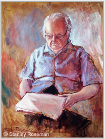 Portrait by Stanley Roseman of Virgil Thomson, 1972, oil on canvas, Collection of the artist. © Stanley Roseman