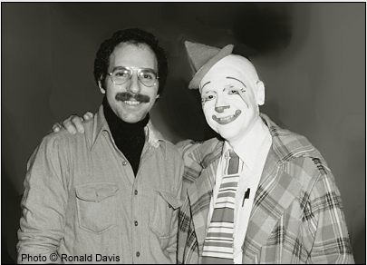 Stanley Roseman and Frosty Little, Director of Clowns, Ringling Bros. and Barnum & Bailey Circus, 1977. Photo © Ronald Davis